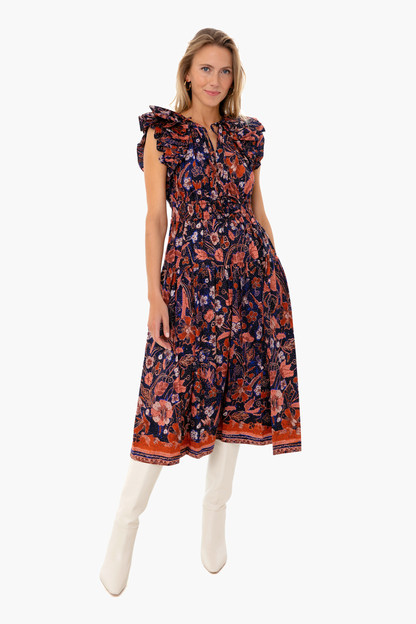 Midnight Floral Arina Dress Order by 12/21 with Expedited Shipping for Delivery by 12/25.