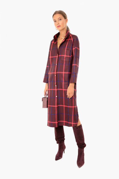 hickory plaid house dress
