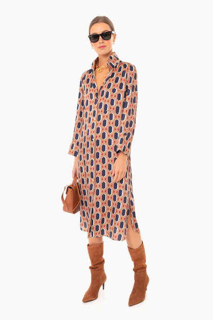 fawn hex house dress