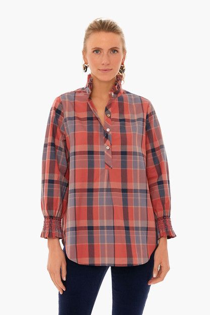 new england plaid teagan popover shirt