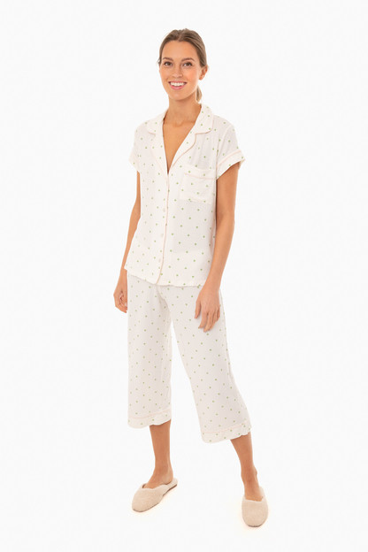 giving palm short sleeve pj set