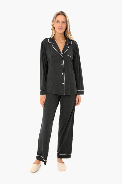 boxed charcoal gisele long sleeve pj set