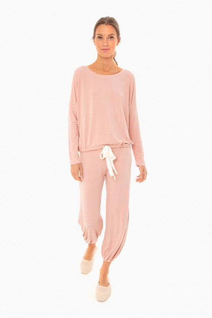 misty rose gisele slouchy set
