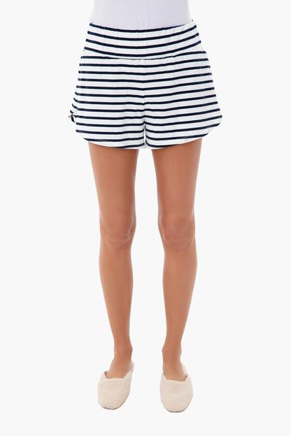 navy stripe sleeper short
