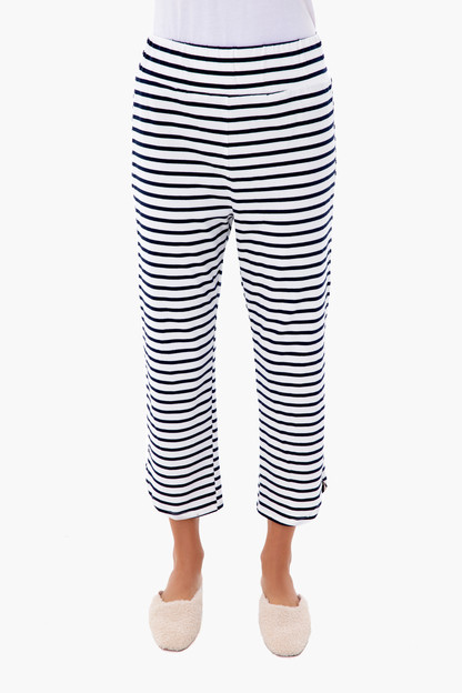 navy stripe sleeper pant