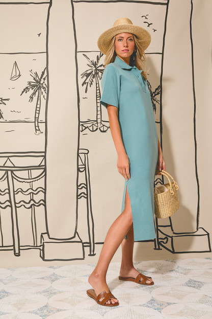 cerulean channing polo midi dress