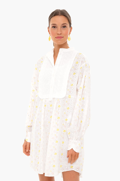 floral broderie anglaise eyelet dress
