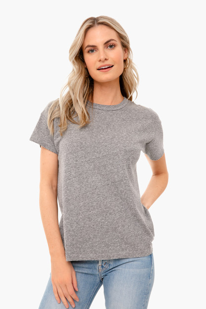 heather grey boxy crew tee