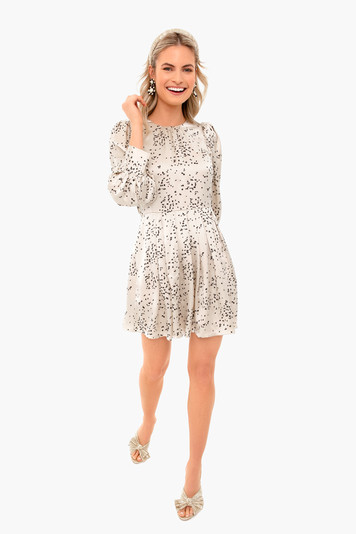 champagne combo scattered fleur dress