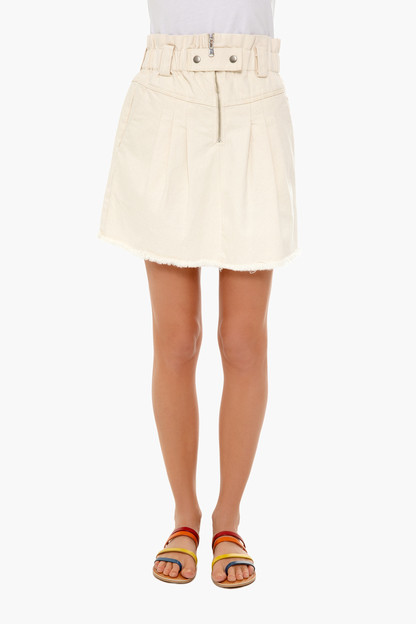 cream phillipa denim skirt