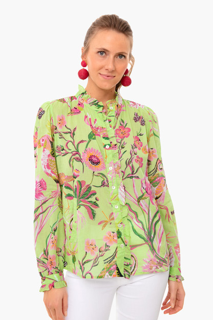 jubilee pistachio green chrissie shirt