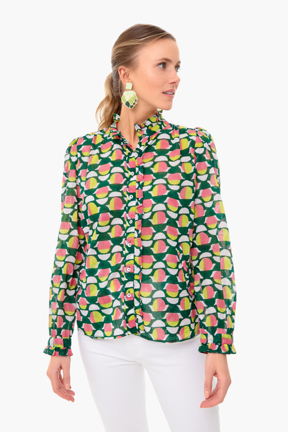 curlew curve lime green chrissie shirt