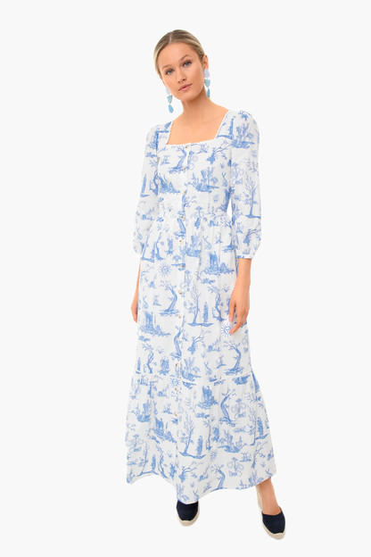 toile de jouy ixora dress