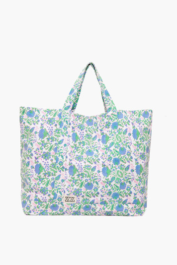 violet and stem green padra oversized tote