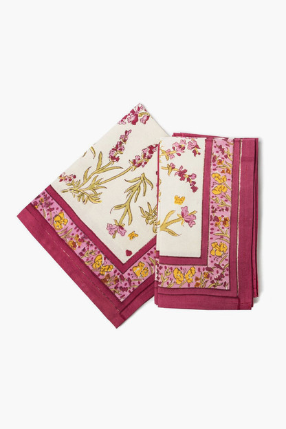 papillon napkins rose (set of 6)