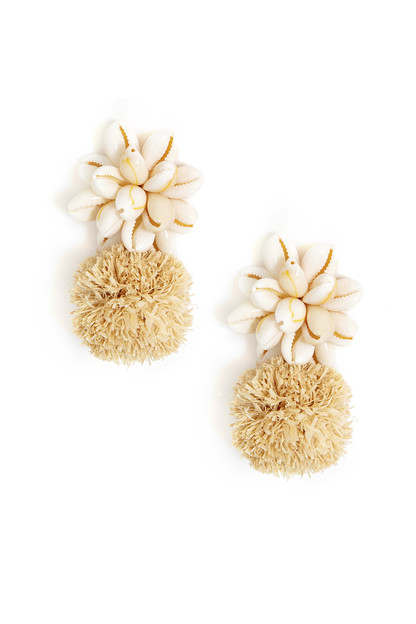 dune pom earrings
