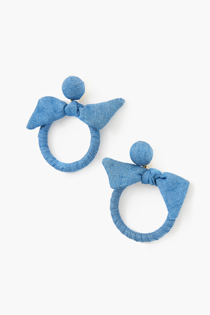 chambray knot maris earrings