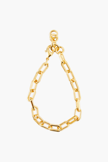 gold paperclip chain link bracelet