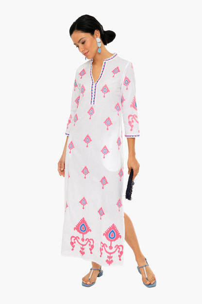 saphire long kaftan