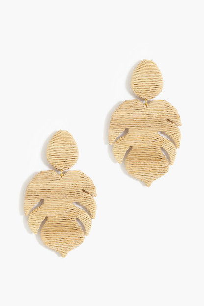 sand raffia palmer earrings
