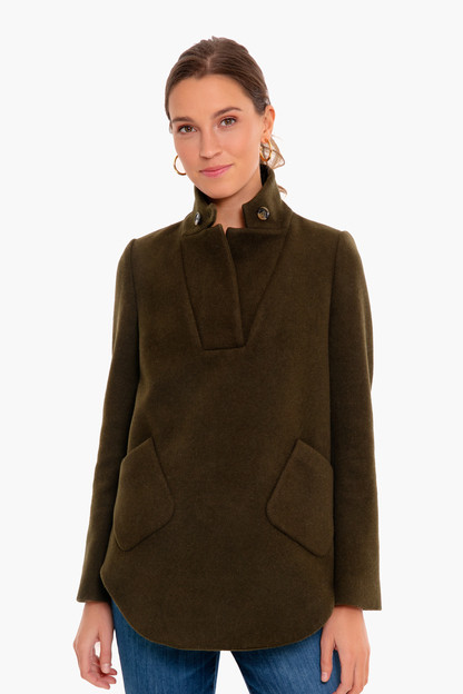 moss green emerson knit popover