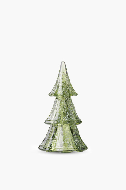 evergreen berry and thread 10.5 stacking glass trees (set of 3)