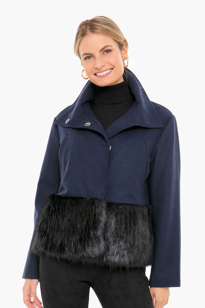 fur trim maxwell jacket