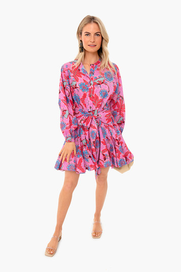 red psychedelic emma dress