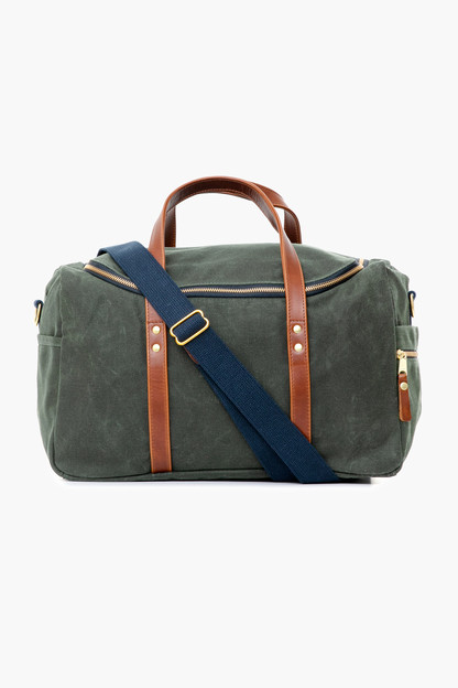 hunter green waxed heritage commuter duffel