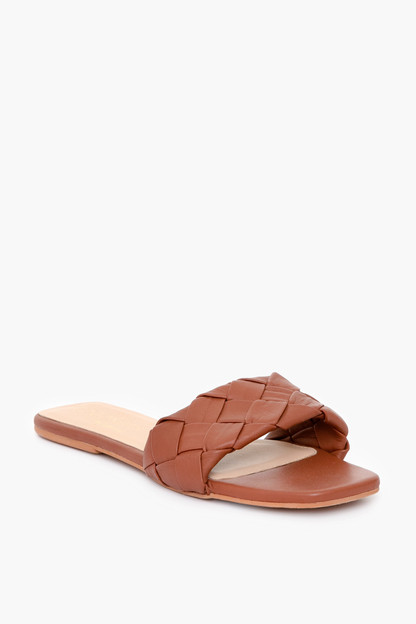 cognac sweet pea sandals