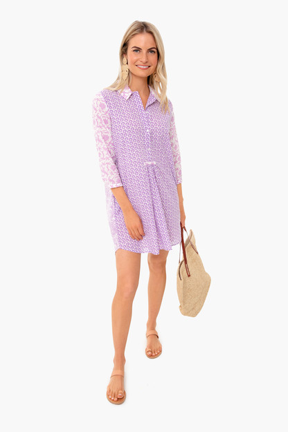 lilac brooklyn dress