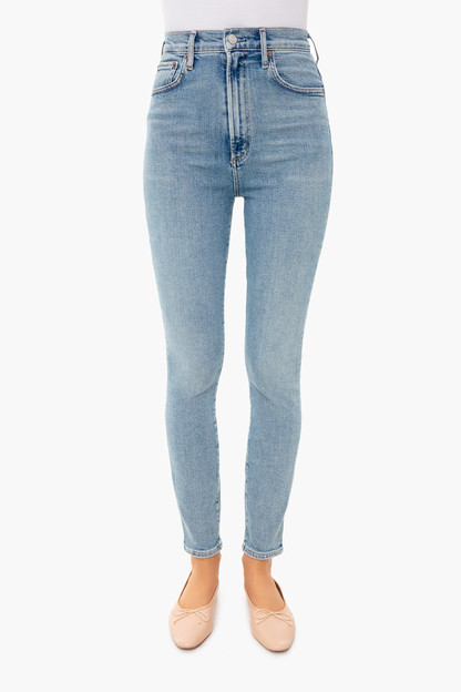 debut pinch waist ultra high rise skinny