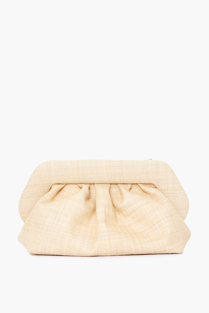 natural raffia bios clutch