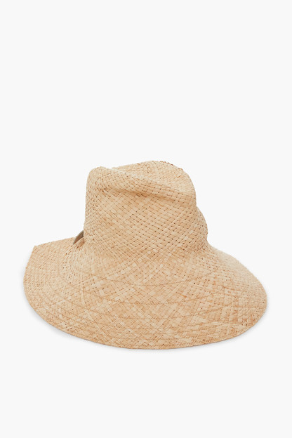 natural and white commando hat