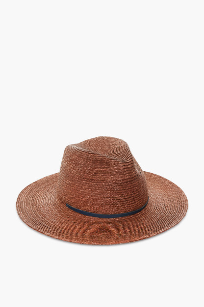 brown and navy marseille hat