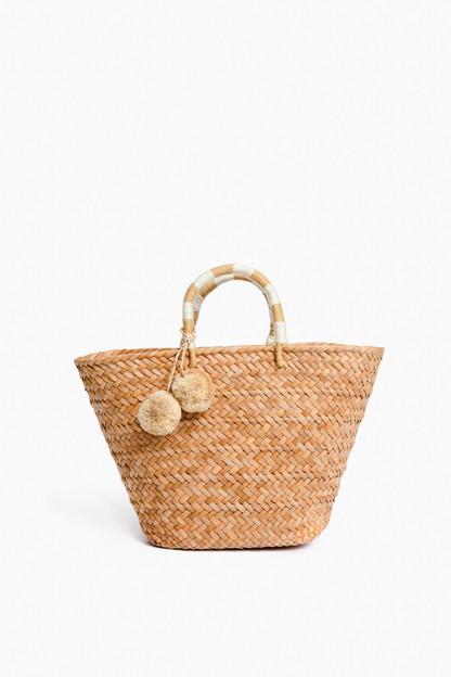 natural stripe st. tropez tote