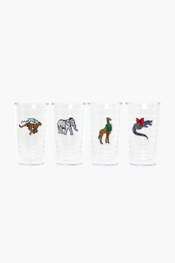 party animal tumblers (set of 4)
