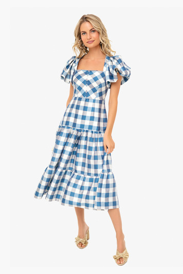 blue gingham cassidy dress