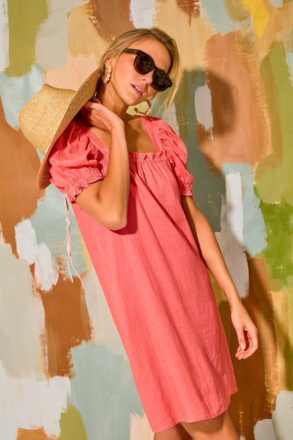 coral darcy dress