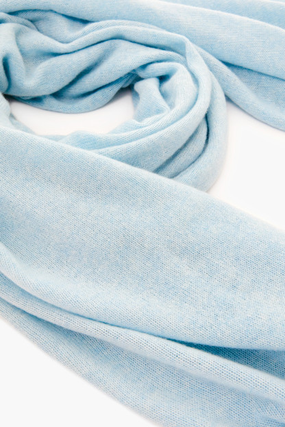fresh water blue cashmere travel wrap