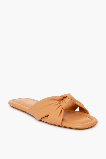 caramel polly puffy knot sandal