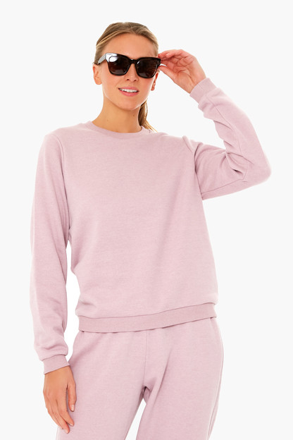 mauve heather classic crewneck sweatshirt