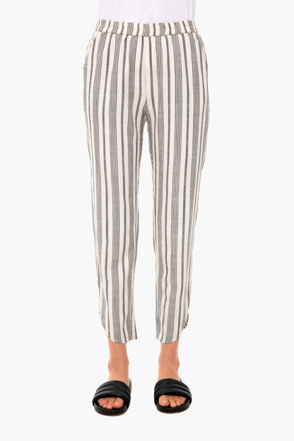 blue striped allison pant