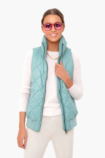 beryl green jackson quilted vest
