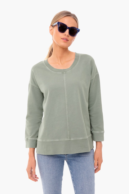 Sage Green Carver Terry Pullover