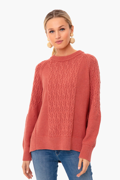 nantucket red mixed cable charles sweater
