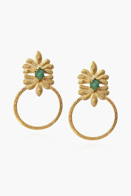 tropicalia emerald earrings