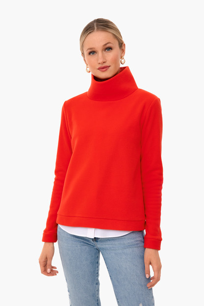 poppy red park slope turtleneck