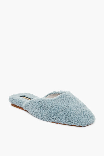dusty blue saydee slippers
