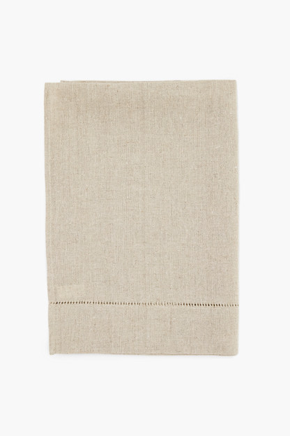 oatmeal hemstitched guest towel